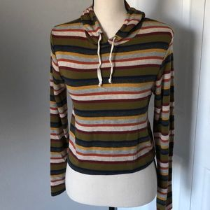 CAUTION WITH THE WIND STRIPED HOODIE